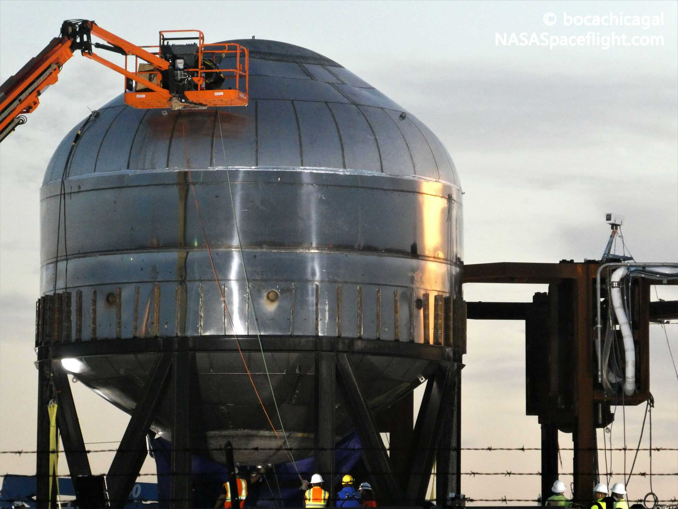 Starship Boca Chica 010920 (NASASpaceflight – Nomadd) test tank 3 (c)