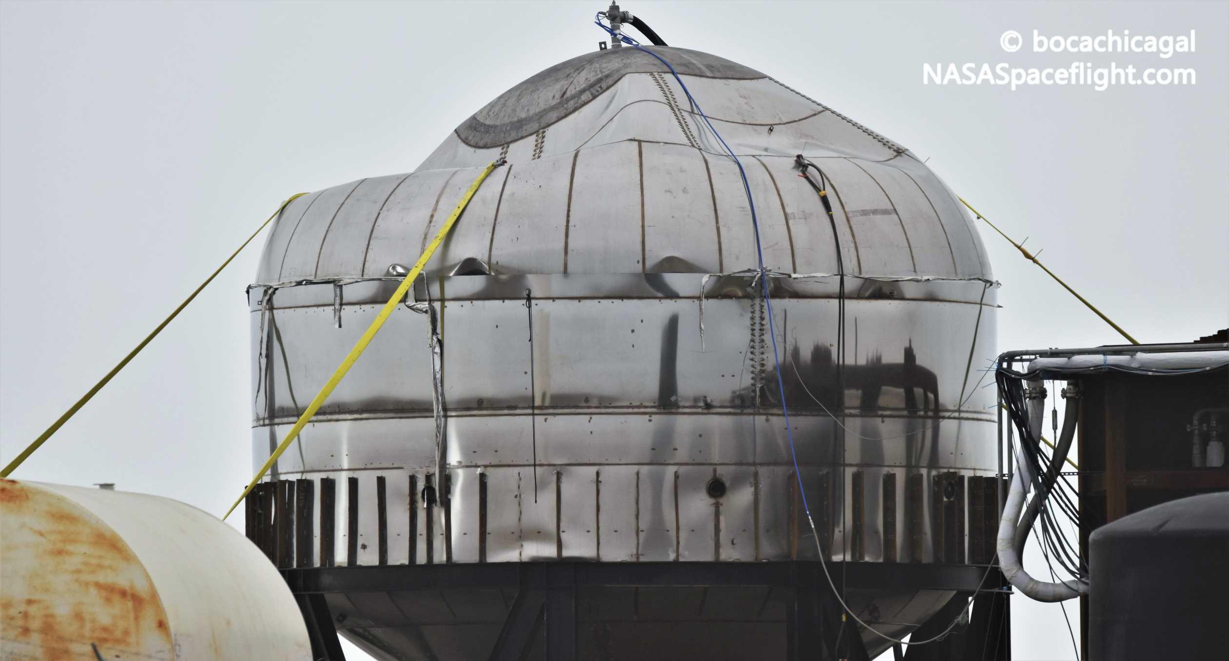 Starship Boca Chica 011020 (NASASpaceflight – bocachicagal) tank post test 2 crop (c)