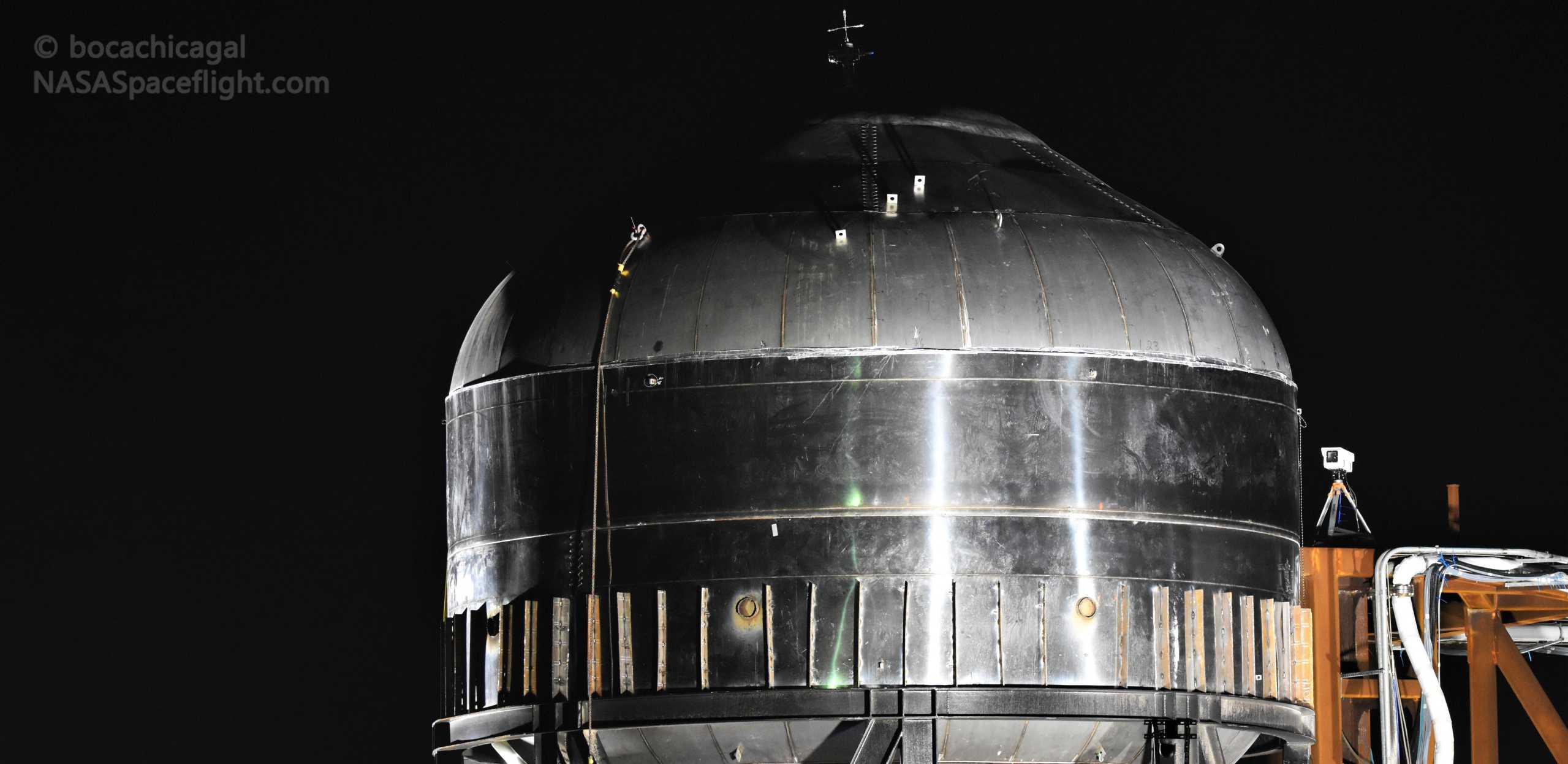 Starship Boca Chica 011020 (NASASpaceflight – bocachicagal) tesk tank prep 1 crop (c)