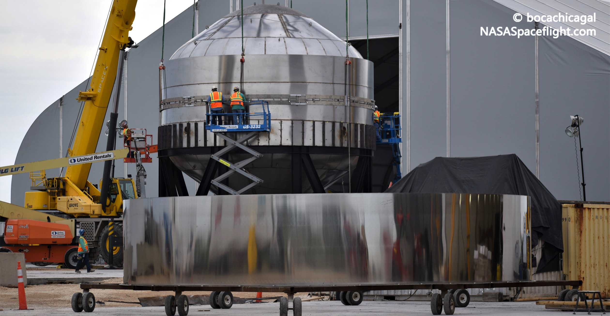 Starship Boca Chica 012620 (NASASpaceflight – bocachicagal) test tank #2 2 crop (c)