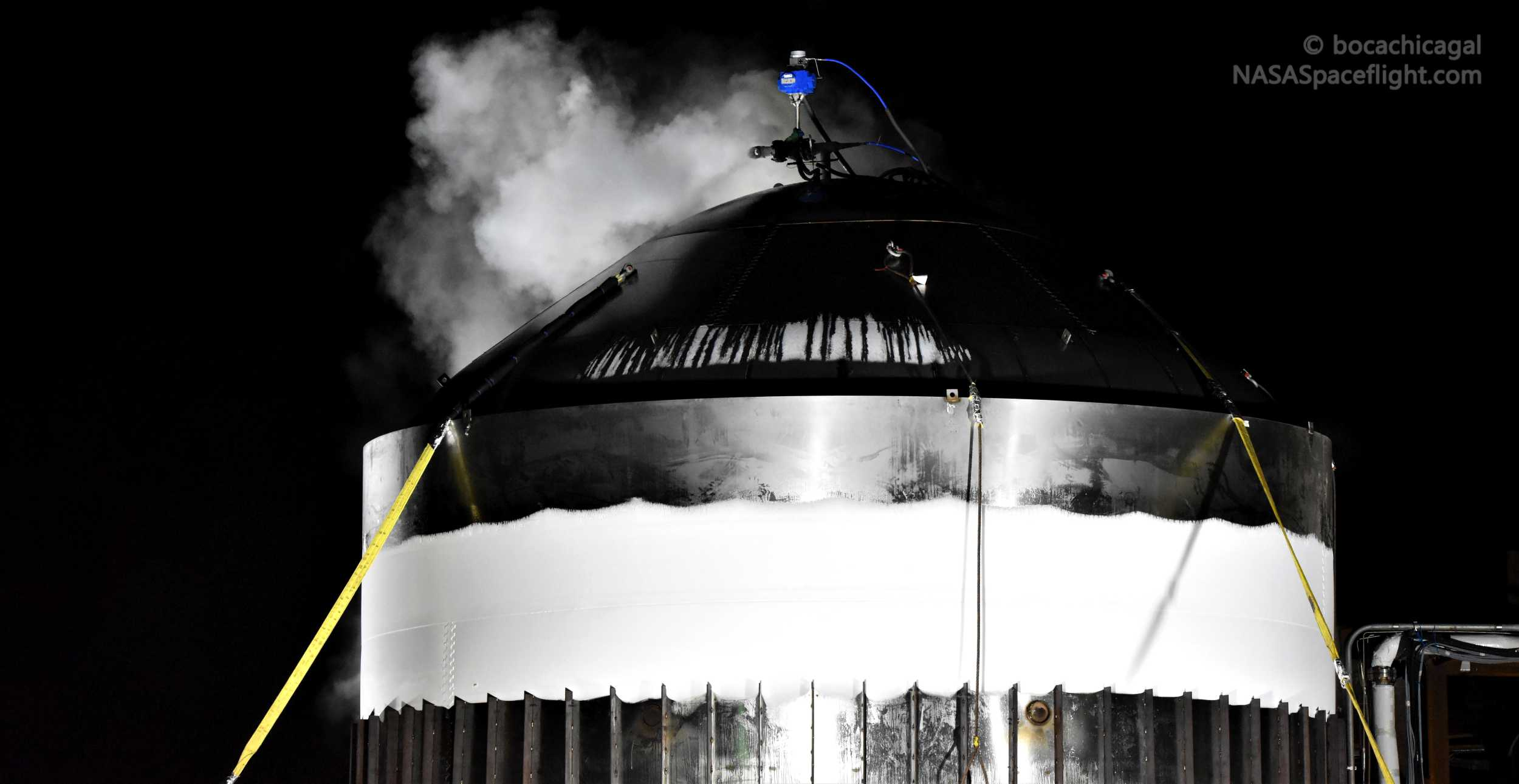 Starship Boca Chica 012820 (NASASpaceflight – bocachicagal) frosty test tank #2 4 wide (c)