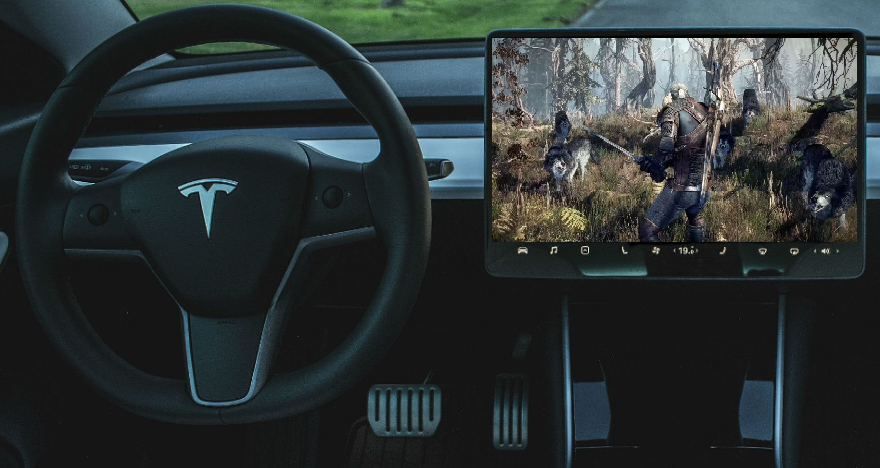 Tesla Arcade The Witcher game