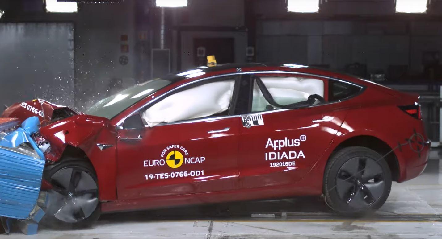 Tesla Model 3 Euro NCAP Best Large Family Car 2019