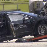 Tesla Model X splits in half after blindsided by Nissan GT-R, Tesla driver walks away unscathed
