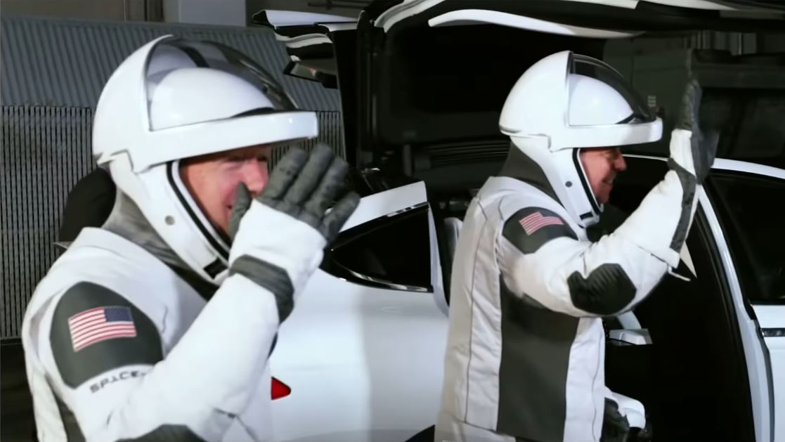Tesla Model X for SpaceX astronauts