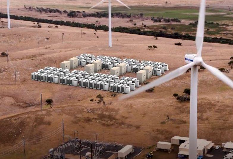 Tesla Powerpack Infigen Energy Wind Farm in South Australia