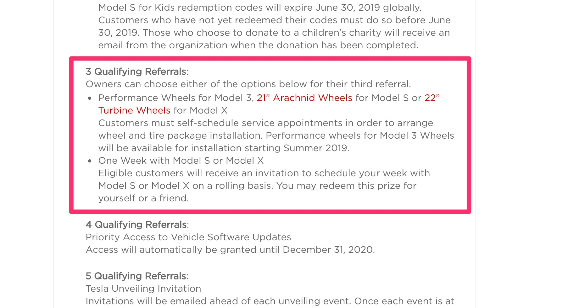 Tesla Referral Program – Model 3 Performance Wheels