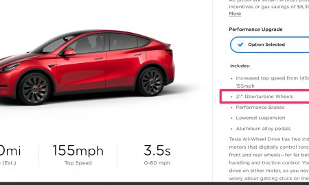 Tesla Model Y 21-in Uberturbine Wheels