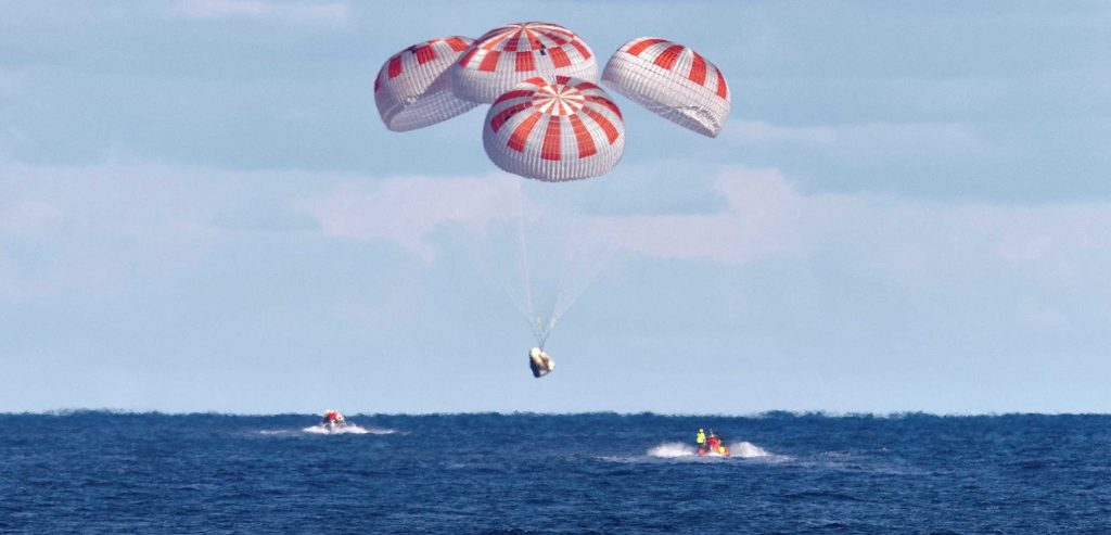 SpaceX Crew Dragon spacecraft nears last parachute tests before astronaut launch debut