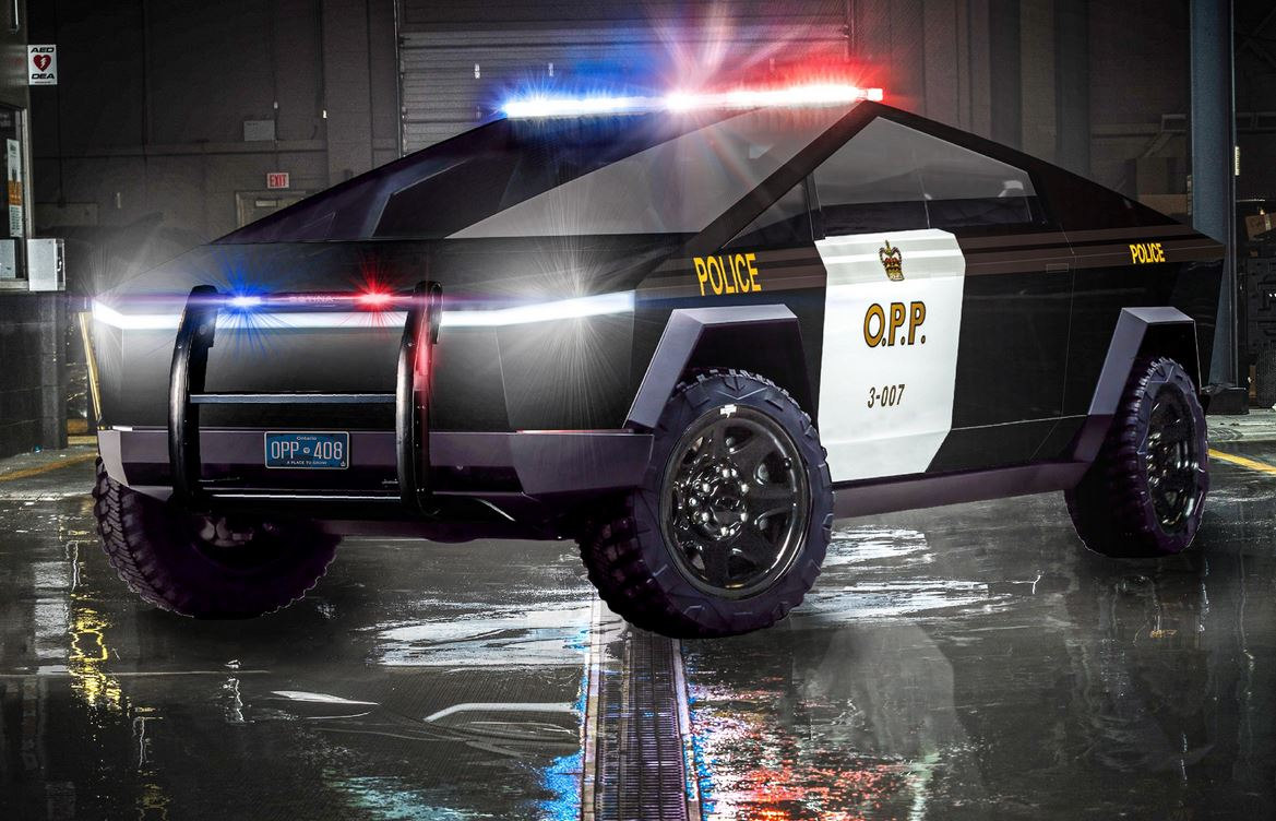 Elon Musk tapped for suggestion on Tesla Cybertruck as police car for Canadian law enforcement