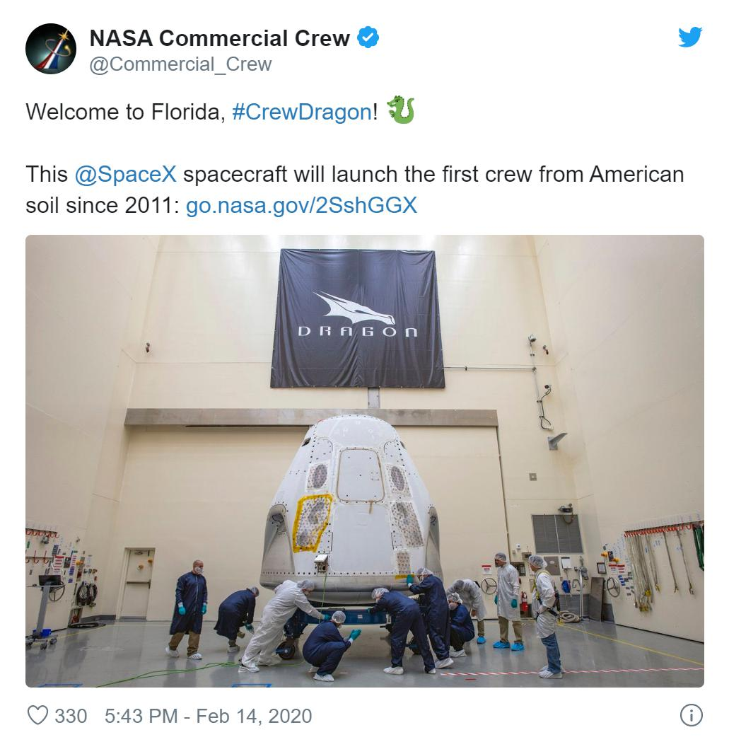 Demo-2 NASA deleted tweet 021420 1