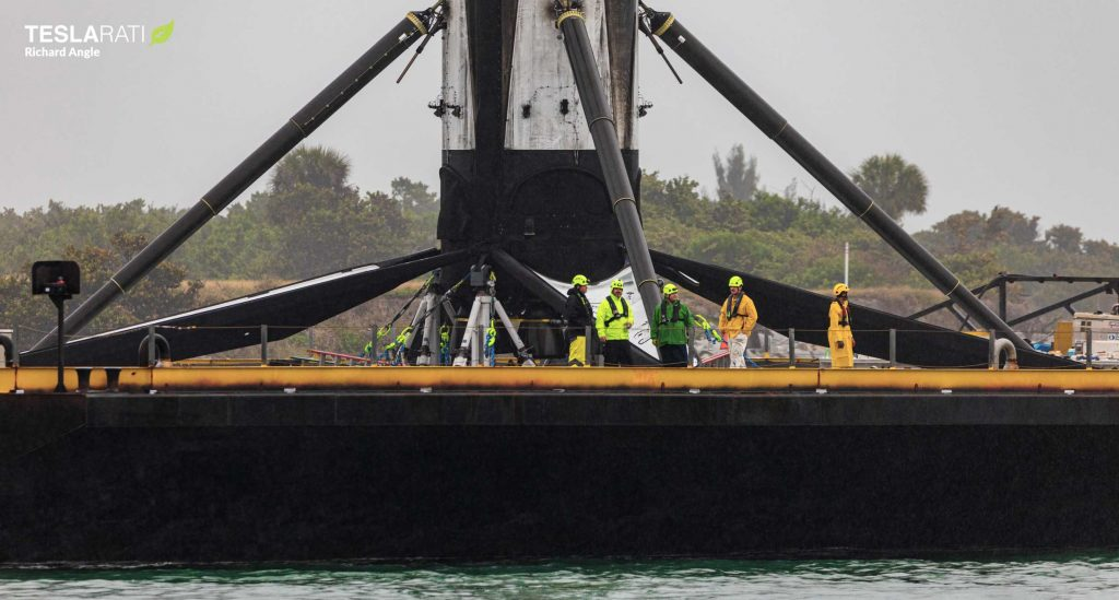SpaceX rocket booster makes it back to port after hard drone ship landing