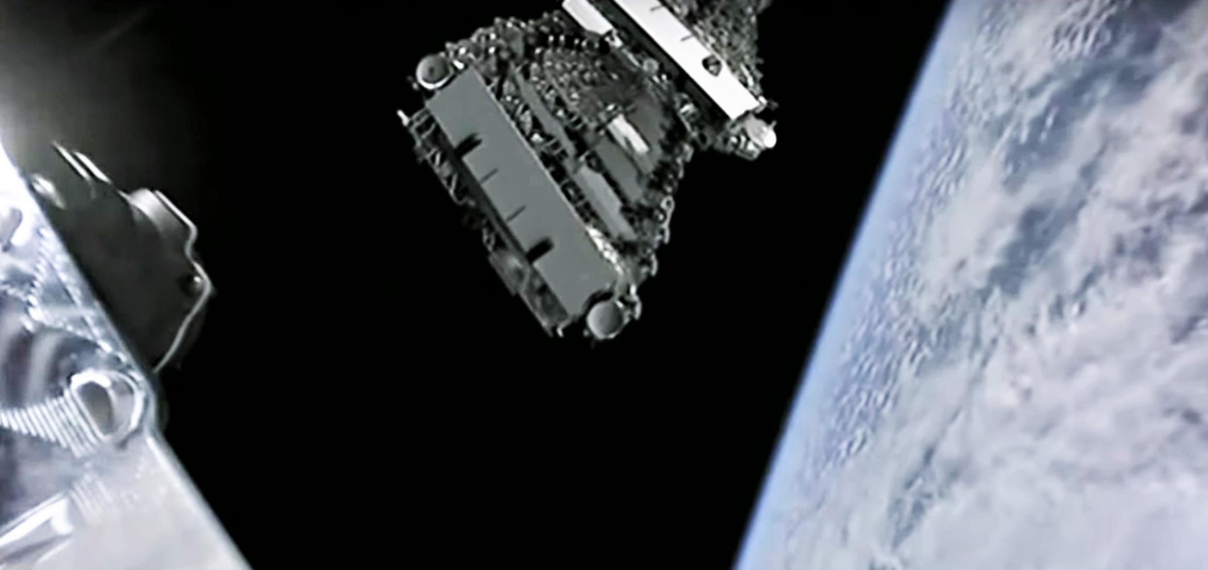 Starlink V1 L4 B1056 webcast (SpaceX) deployment 2