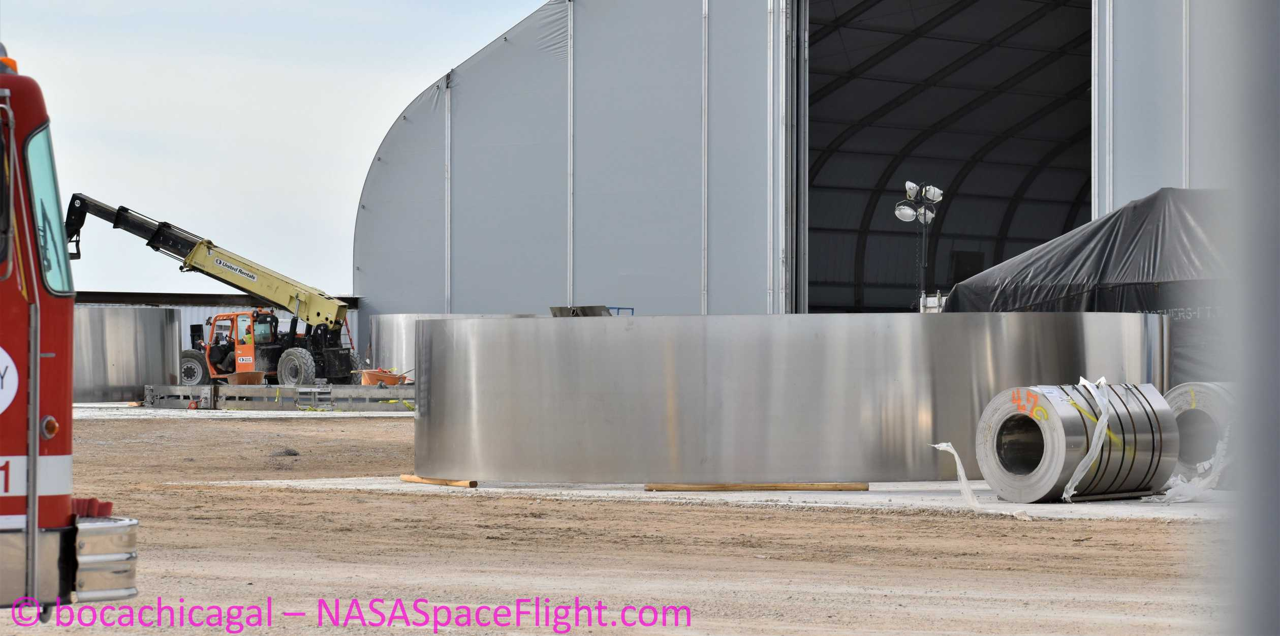 Starship Boca Chica 020320 (NASASpaceflight – bocachicagal) ring work 4 crop (c)