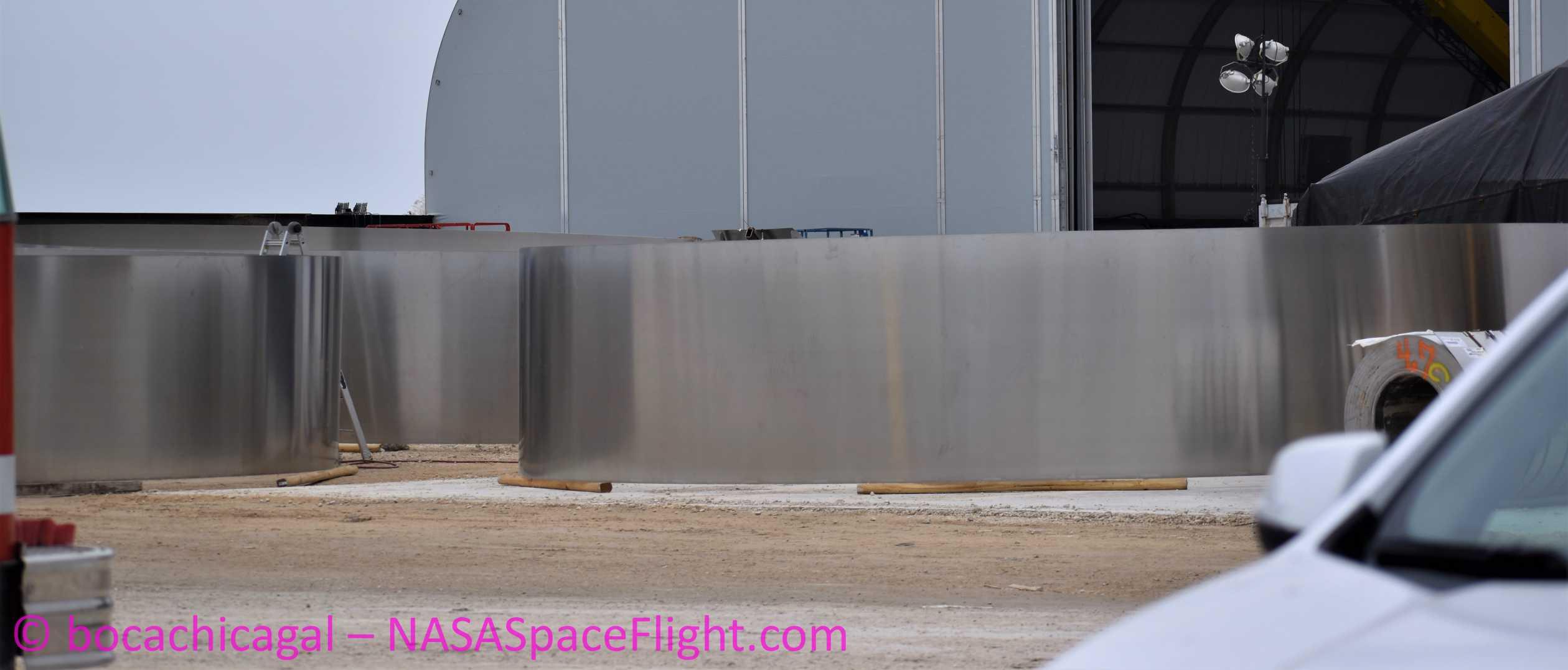 Starship Boca Chica 020320 (NASASpaceflight – bocachicagal) ring work 5 crop (c)