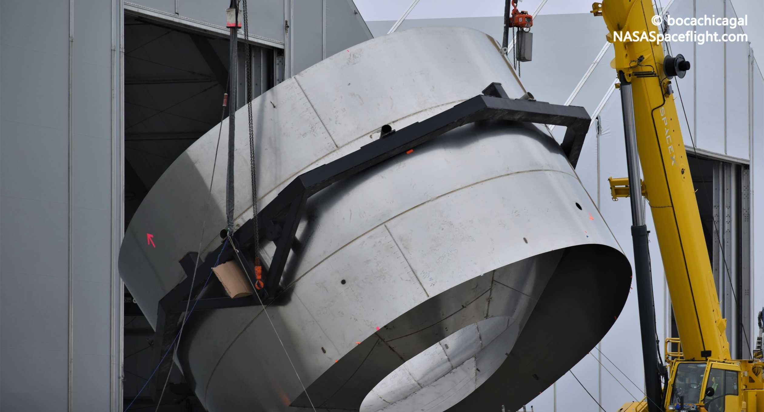 Starship Boca Chica 020920 (NASASpaceflight – bocachicagal) SN01 dome ring flip 6 crop (c)