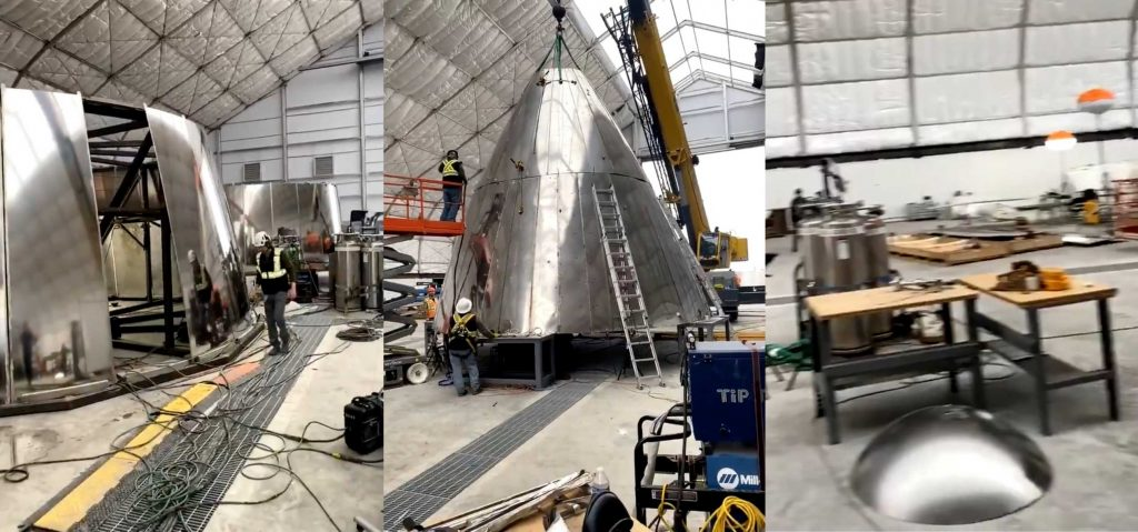 SpaceX's first Starship test flight imminent as rocket nosecone nears completion