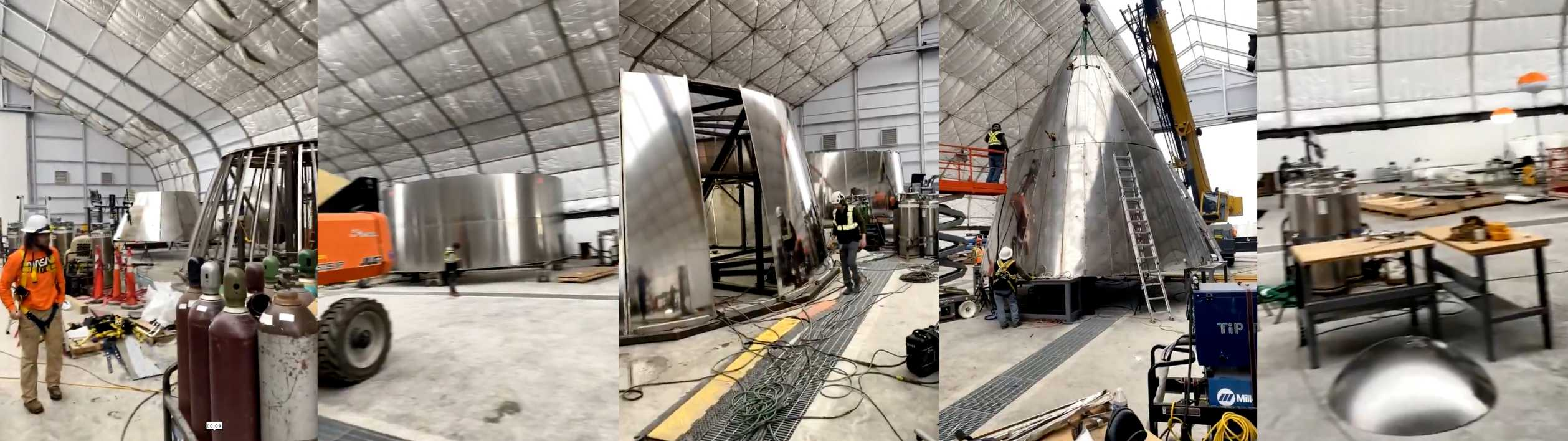 Starship nosecone production tent 021920 (Elon Musk) SN01 mosaic 3 (c)