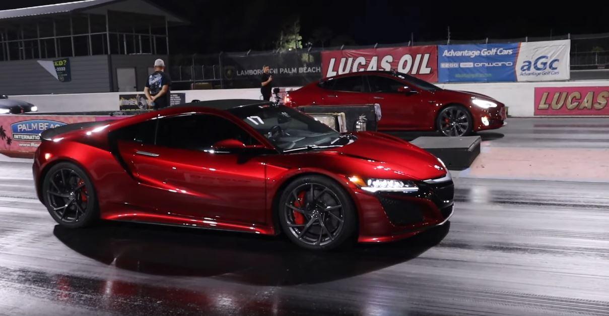 Tesla Model S Performance Raven vs. Modified Acura NSX
