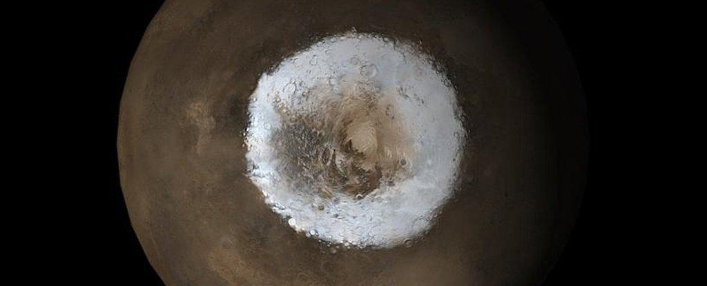 Mars polar cap