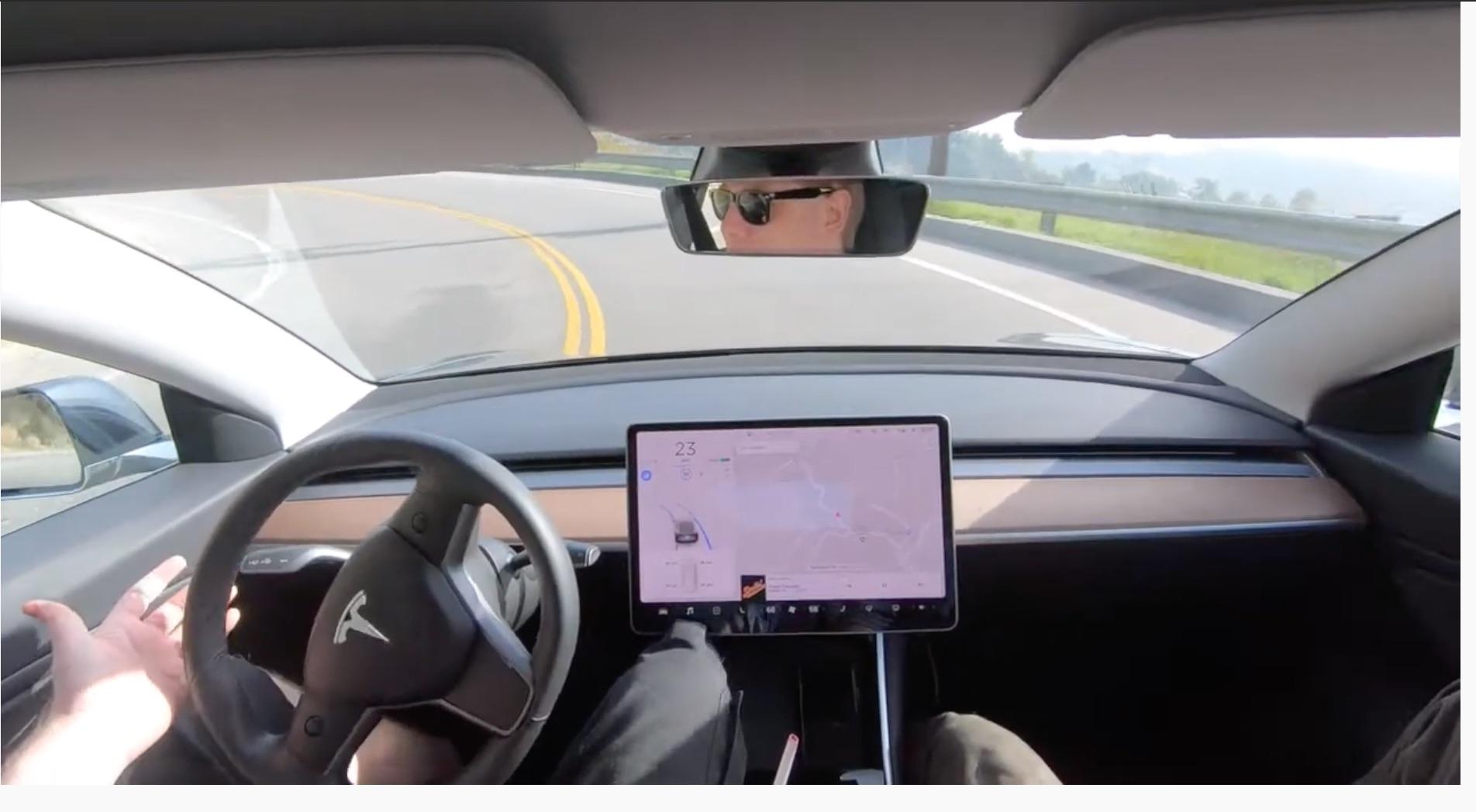 tesla autopoilot mulholland drive