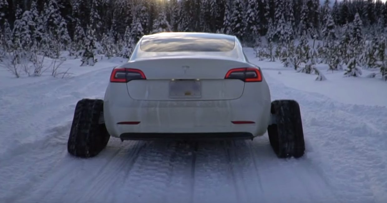 tesla-model-3-snow-tracks-tank-tracks