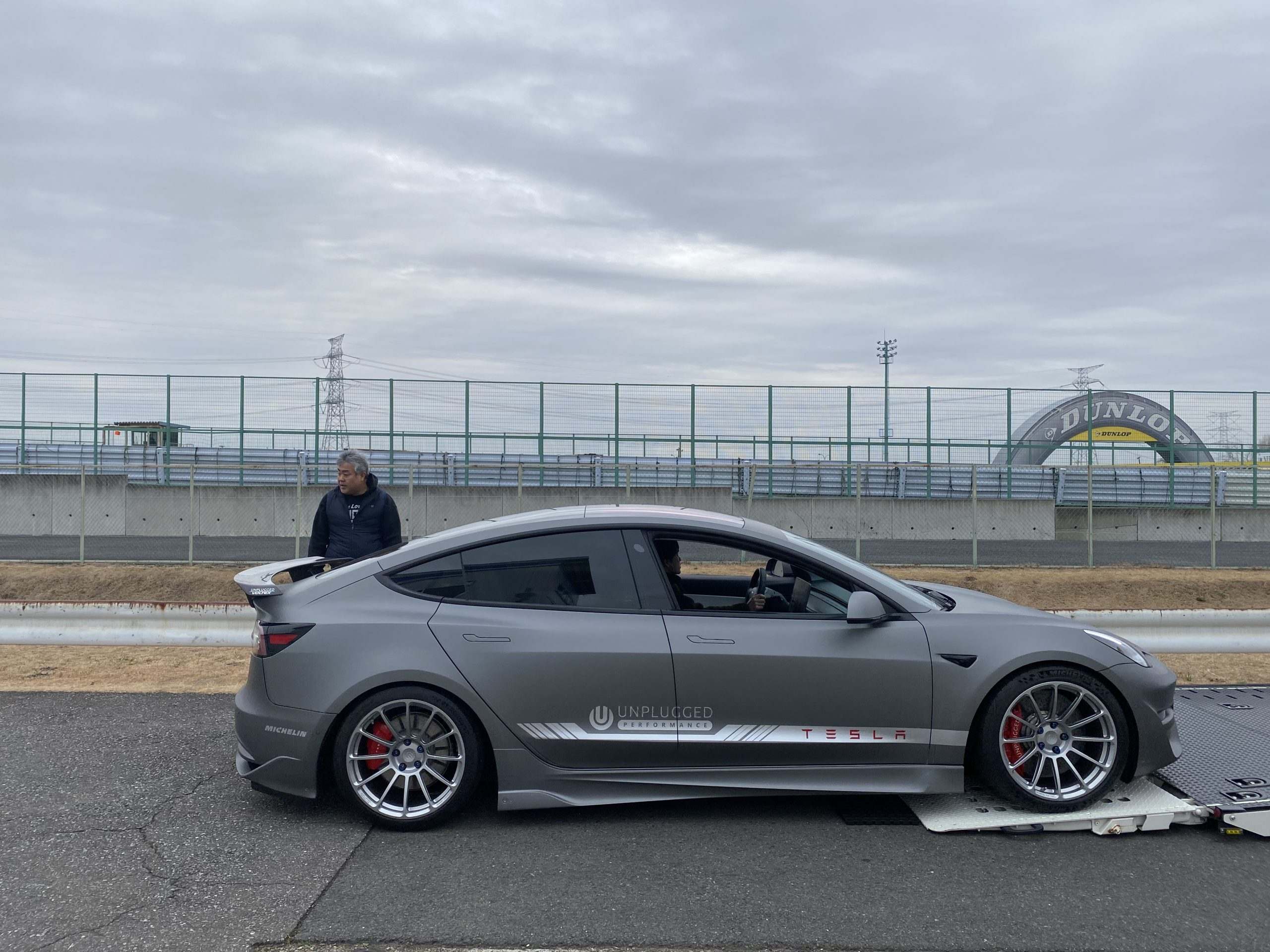 Tesla Model 3 Ascension-R at Tsukuba Circuit, Japan (Source: Unplugged Performance)