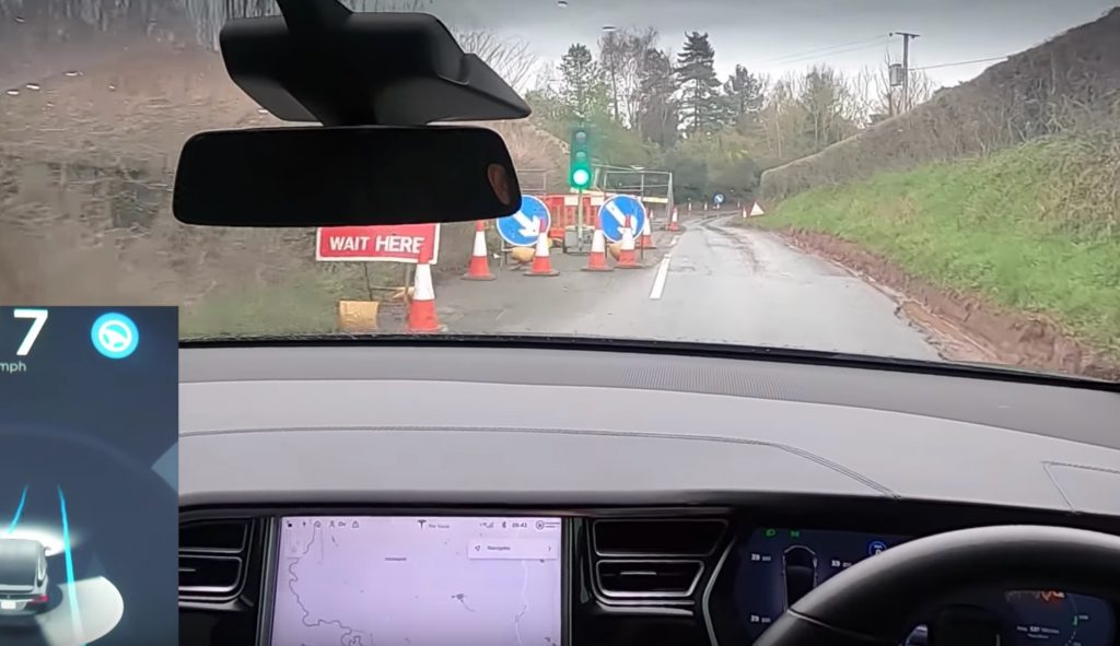 Tesla Model X with early-gen Autopilot tackles muddy rural roads ravaged by Storm Dennis
