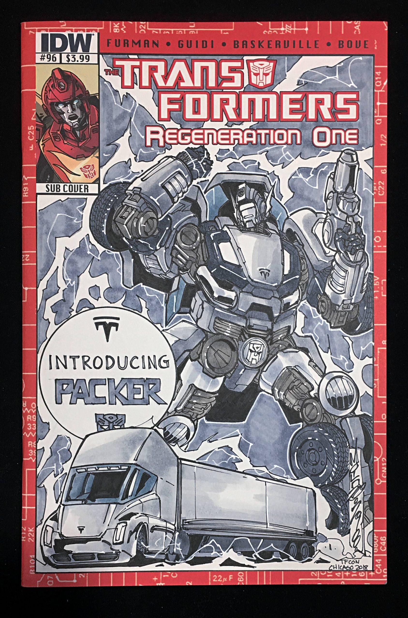 Tesla Semi Transformers Comic (Credit: Artist/Alix Milne, Yoshi)