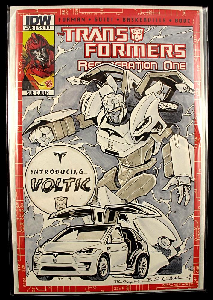 Tesla Model X Transformers Comic (Credit: Artist/Brendan-Cahill, Yoshi)