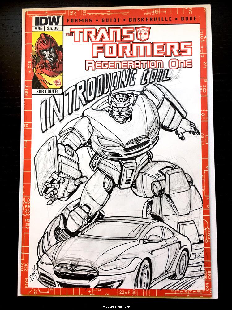 Tesla Model S Transformers Comic