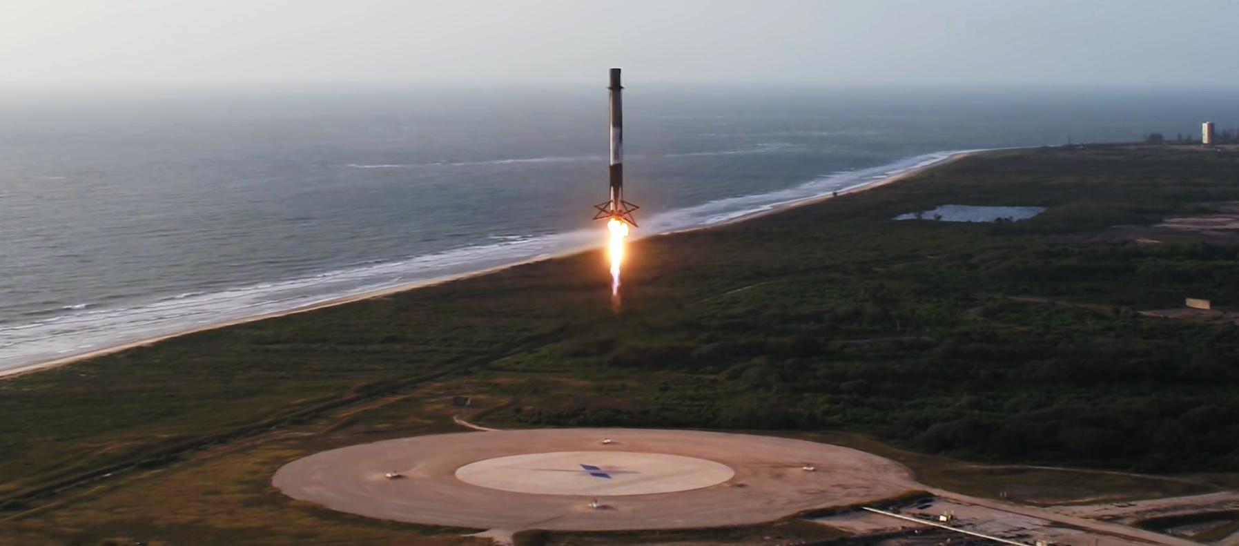 Falcon 9 Block 5 CRS launch (SpaceX) LZ-1 3