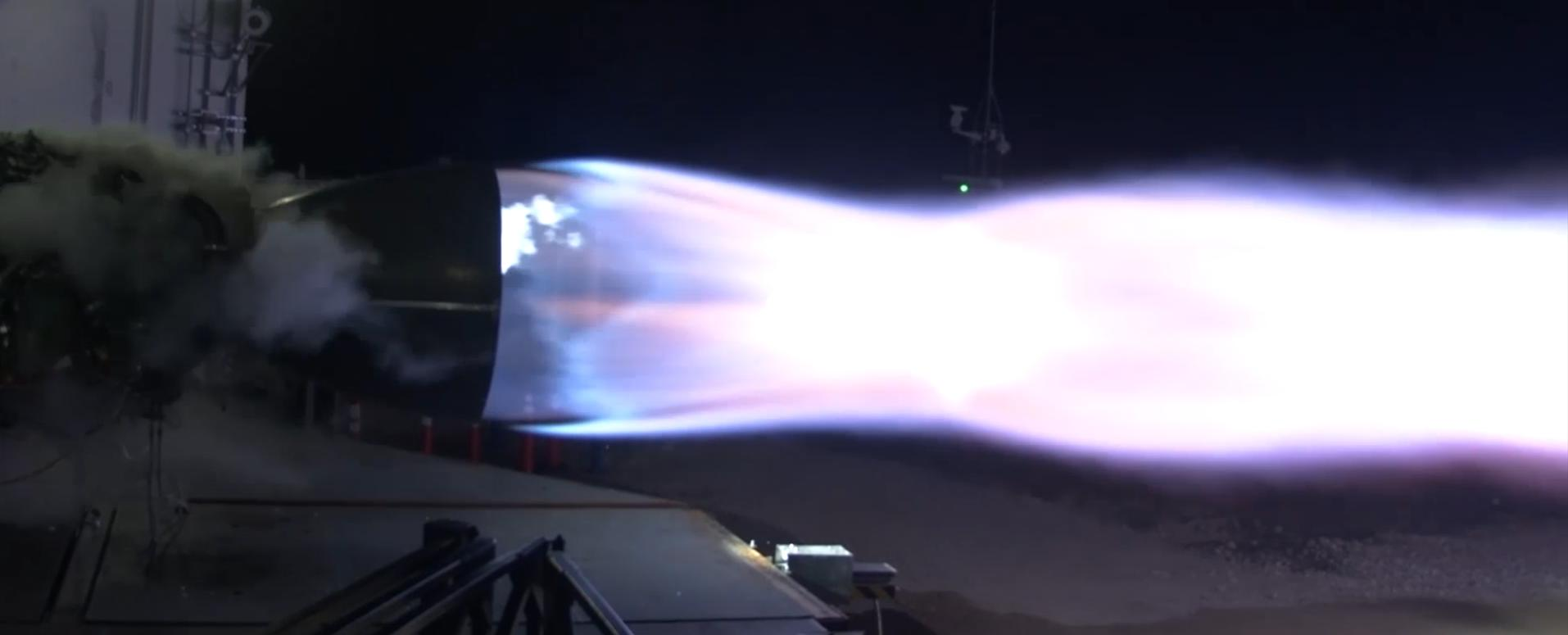 Raptor static fire 2019 (SpaceX) 1 crop