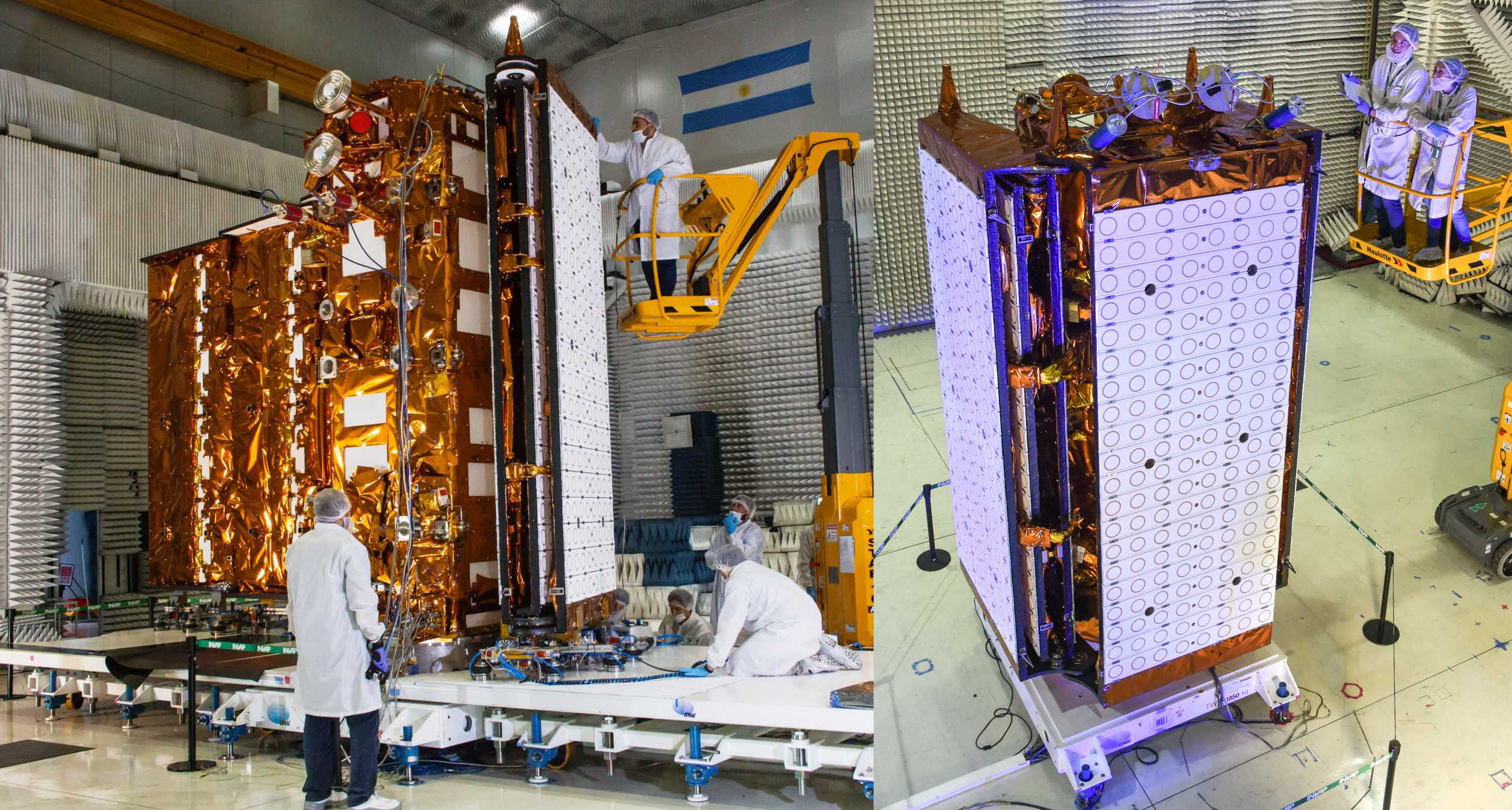 SAOCOM 1B final testing 2020 (CONAE) panel 1 (c)