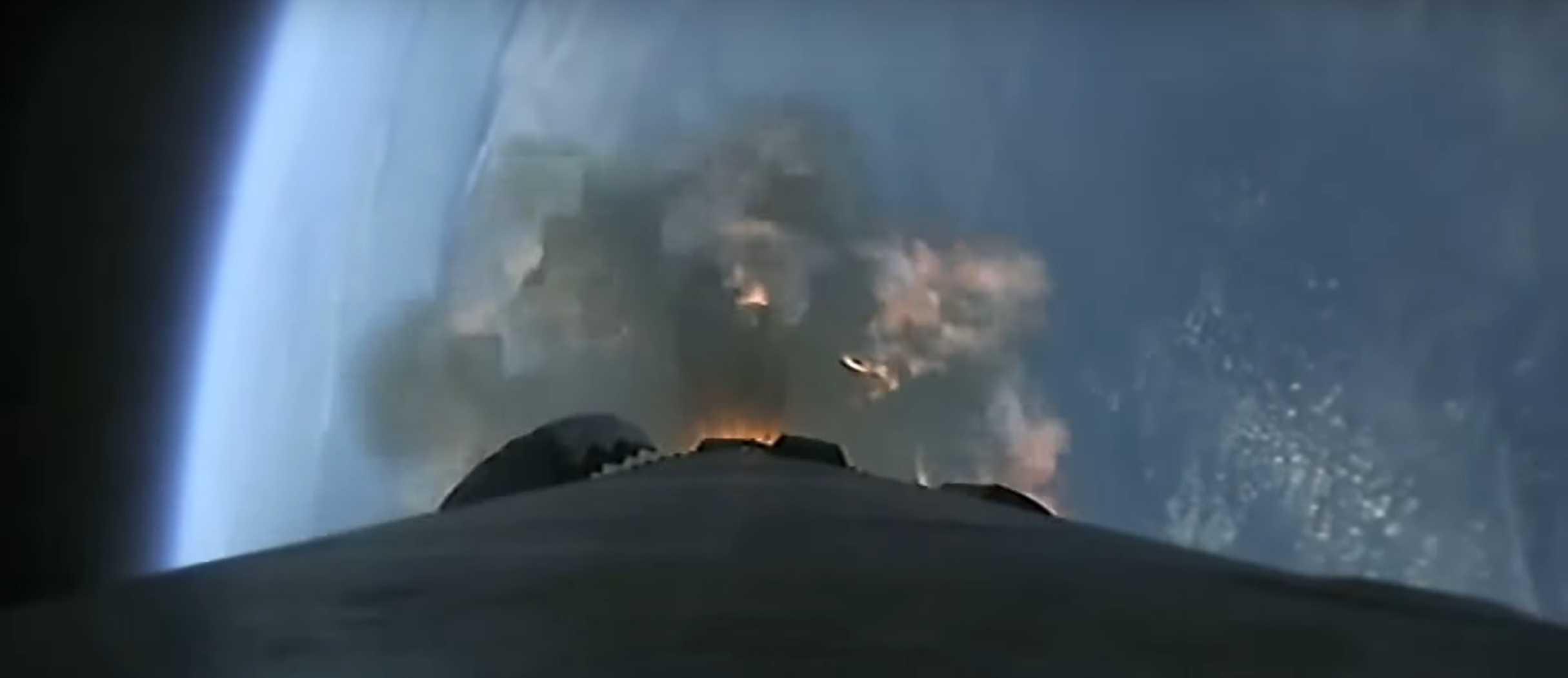 Starlink V1 L5 webcast 031820 (SpaceX) B1048 engine failure 1