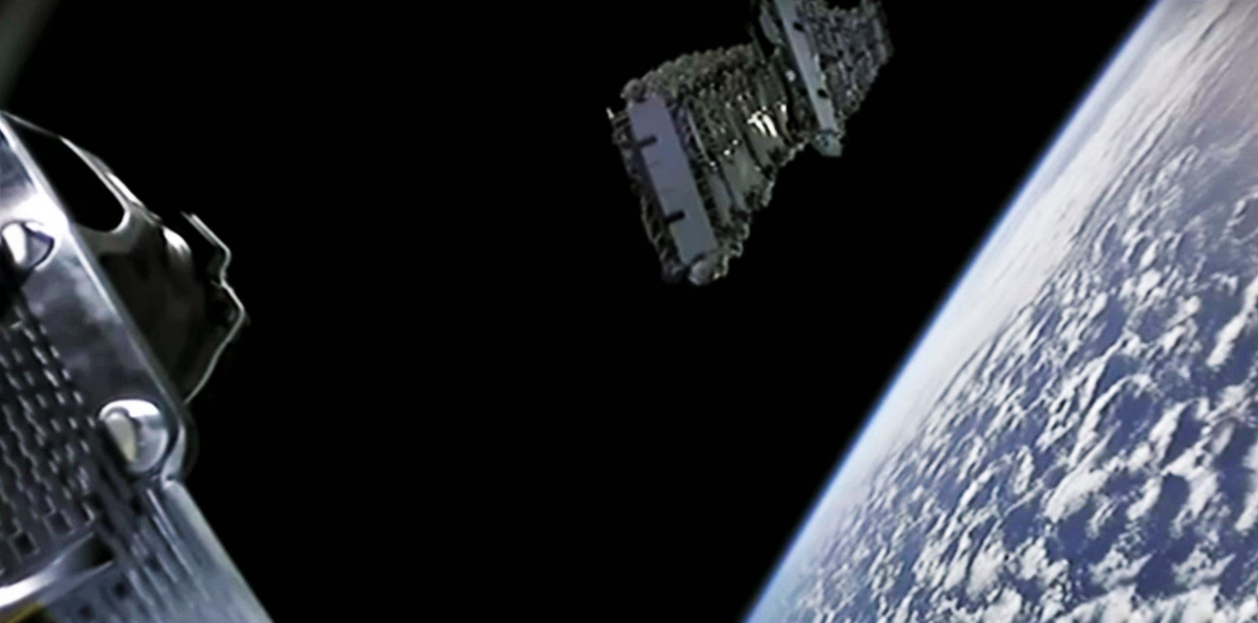 Starlink V1 L5 webcast 031820 (SpaceX) deploy 3