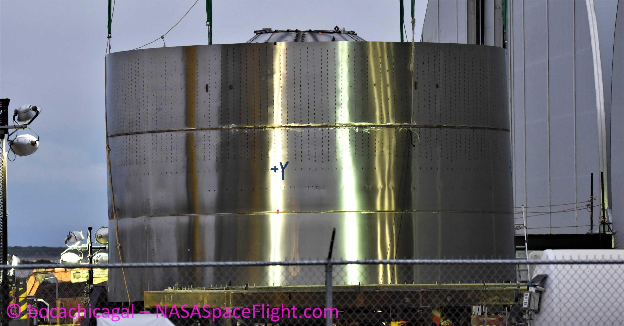 Starship Boca Chica 021220 (NASASpaceflight – bocachicagal) SN01 engine section 1 crop (c)