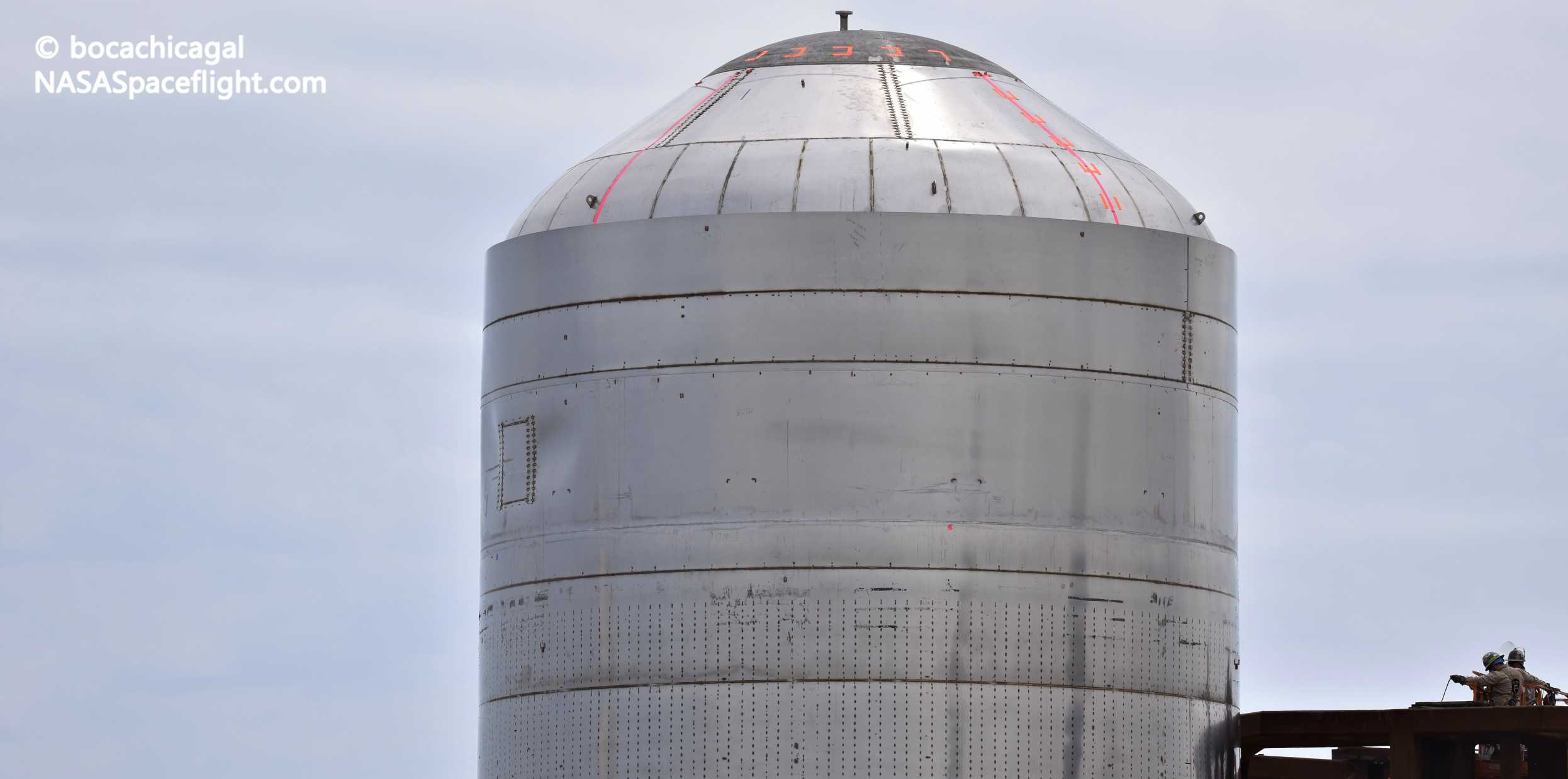 Starship Boca Chica 030920 (NASASpaceflight – bocachicagal) SN02 test tank 2 crop (c)