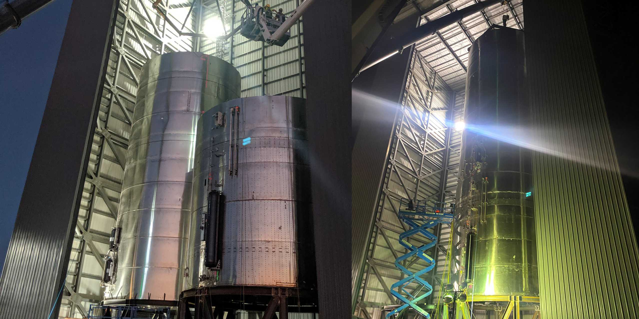 Starship SN3 tank section final stacking 032620 (Elon Musk) panel 1 (c)