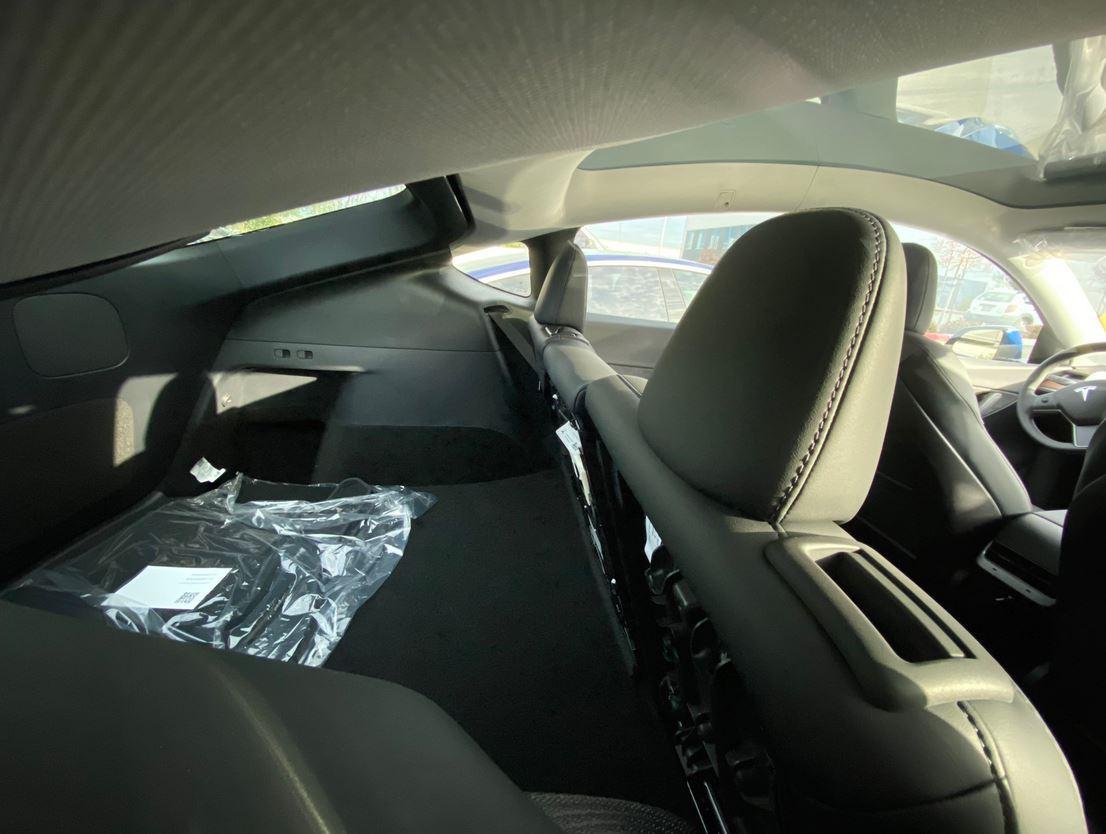 Tesla Model Y motorized second row seats