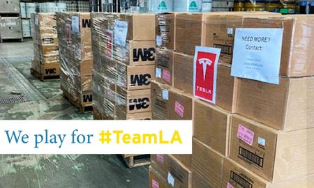 Tesla donates supply of 3M masks to medical facilities to help staff protect themselves against the coronavirus. Credit: UCLA