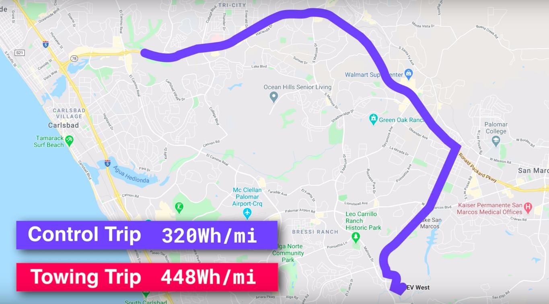 tesla-model-3-sullins-towing-test-distance-map