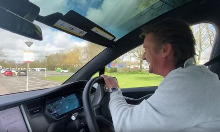 Richard Hammond drives a Tesla Model X on a long distance road trip