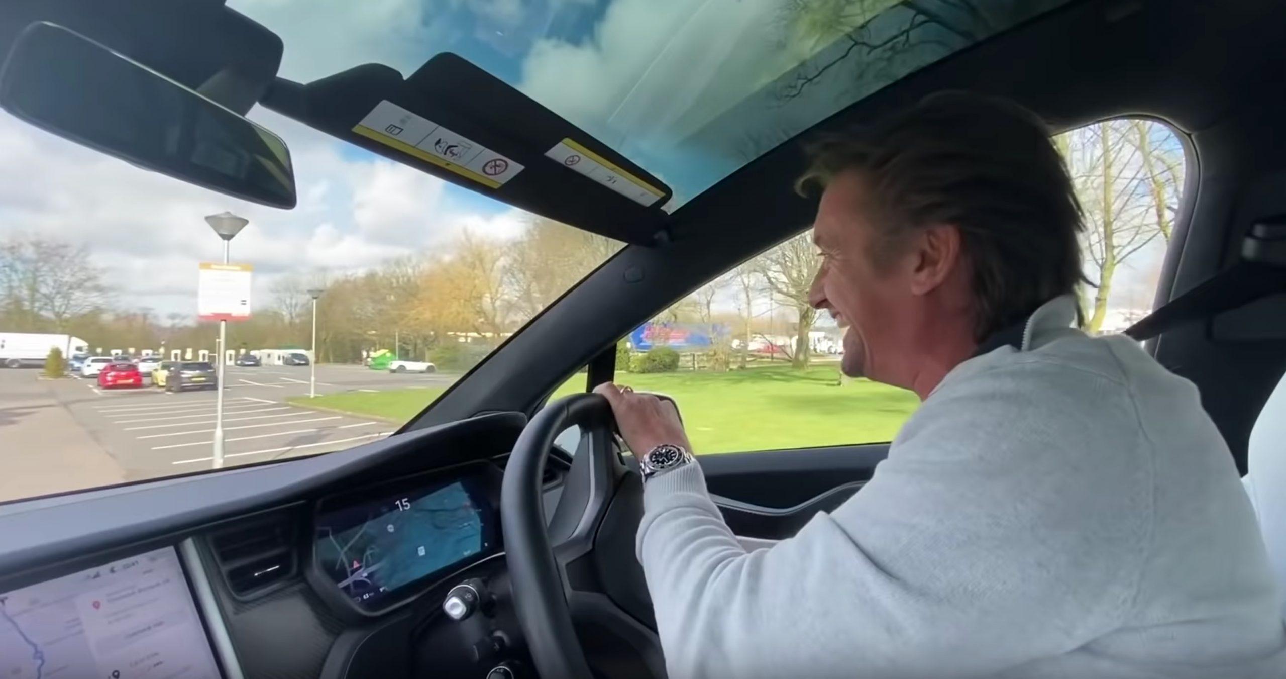 Richard Hammond drives a Tesla Model X on a long distance road trip