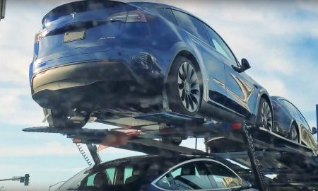 Tesla Model Y car carrier