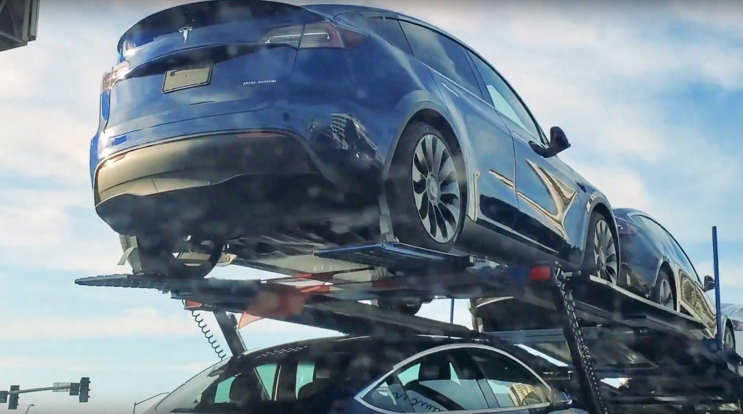 Tesla Model Y car carrier