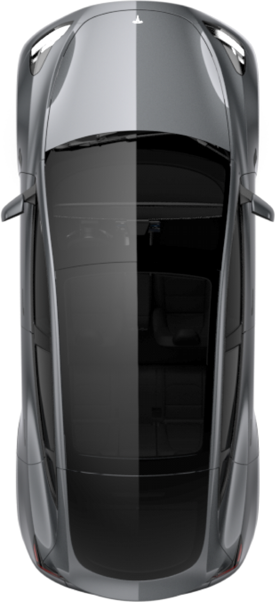 Tesla mobile app view Model Y glass roof  (Credit: matt687 via Reddit)