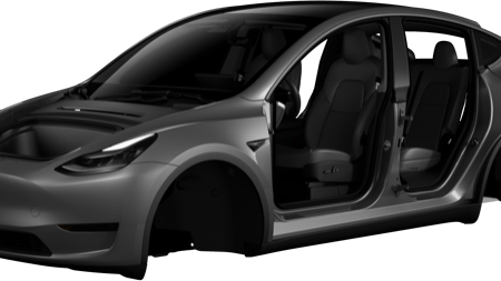 Tesla mobile app view Model Y body (Credit: matt687 via Reddit)