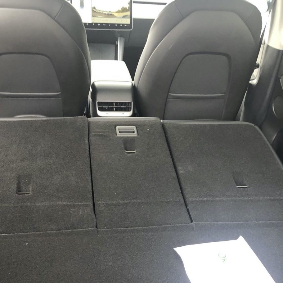 Tesla Model Y rear door emergency release