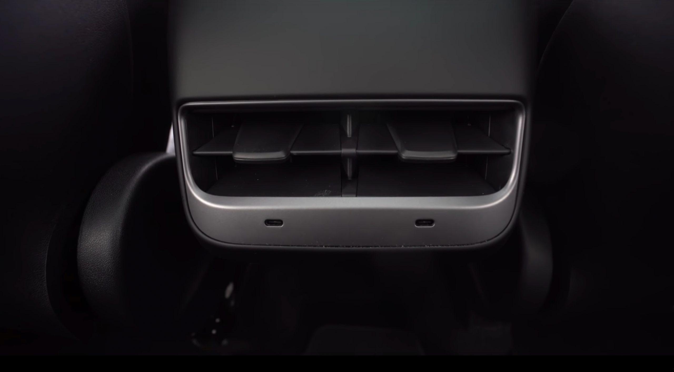 Tesla Model Y rear USB ports